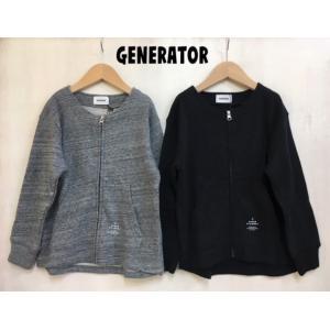 GENERATOR / ジェネレーター 子供服 ノーカラーJK 前開きフロントジップジャンパー|kooka