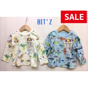 BIT'Z / ビッツ 子供服  4色2柄長袖Tシャツ 総柄 男の子 女の子 2021SS|kooka