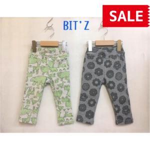 【SALE】【30%OFF】BIT'Z / ビッツ 子供服   2色2柄保育園パンツ 女の子 男の子 SS|kooka