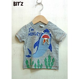 【SALE】BIT'Z / ビッツ 子供服  サメプリントTシャツ 半袖Tシャツ 男の子 2018SS|kooka