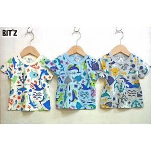 【SALE】BIT'Z / ビッツ 子供服  お魚柄Tシャツ  総柄半袖Tシャツ 男の子 2018SS|kooka