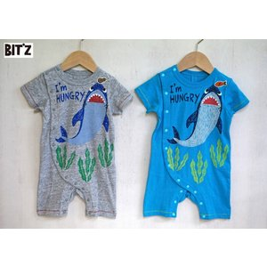 BIT'Z / ビッツ 子供服  ベビー服  さめプリントロンパース 半袖ロンパース  70cm 男の子  2018SS|kooka