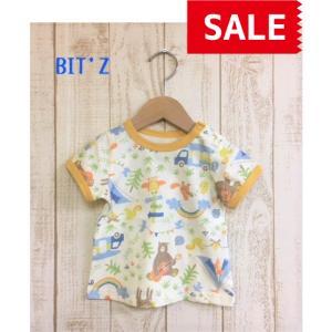 【SALE】【50%OFF】BIT'Z / ビッツ 子供服  キッズTシャツ 動物キャンプ柄半袖Tシャツ 男の子 女の子 SS|kooka