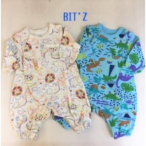 BIT'Z / ビッツ 子供服  ベビー服 2柄ちびカバーオール 男の子 女の子 BABY|kooka