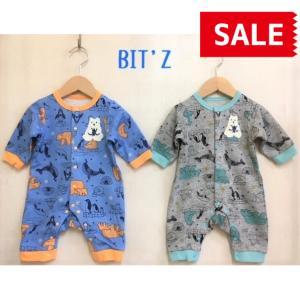 BIT'Z / ビッツ 子供服  ベビー服 北極動物柄カバーオール 男の子 女の子 |kooka