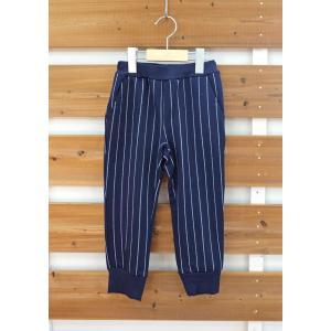 【SALE】BLUEU AZUR / ブルーアズール 子供服10分丈足ロリブテーパードパンツ(ストライプ)男の子&女の子|kooka