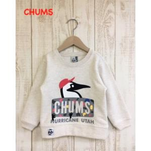 CHUMS / チャムス 子供服 キッズ Kids Climbing Booby Crew Top  クライミングプリントトレーナー 男の子 女の子 |kooka