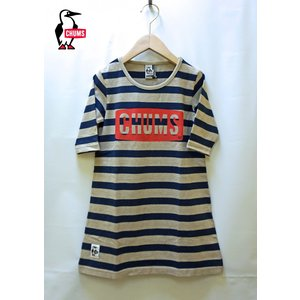 CHUMS / チャムス 子供服 キッズ Kid's Boat Logo 3/4 Dress  ボートロゴ 長袖ワンピース  女の子 2017AW|kooka