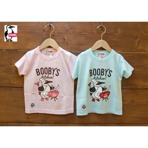 CHUMS / チャムス 子供服 キッズ Kids   Booby's  kitchen T-Shirt  ブービーバードバーベキュープリント半袖Tシャツ 男の子 女の子 2017SS|kooka
