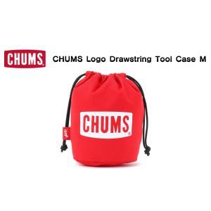 CHUMS / チャムス    CHUMS Logo Drawstring Tool Case M  チャムスロゴドローストリングツールケースM(キャンプグッズ)|kooka