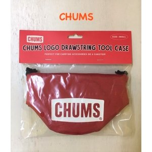 CHUMS / チャムス   CHUMS Logo Drawstring Tool Case S  チャムスロゴドローストリングツールケースS(キャンプグッズ)|kooka