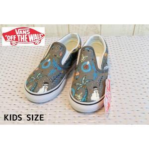 【SALE】VANS/バンズ 子供靴 キッズスニーカー Classic Slip-On holiday pewter ホリデイピューター 男の子&女の子|kooka
