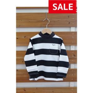 【SALE】【40%OFF】PeeeEAGL / ピーグル 子供服度詰め天竺モックネックTシャツ ボーダー長袖Tシャツ 110cm 120cm 130cm 男の子&女の子|kooka