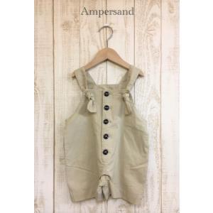 AMPERSAND / アンパサンド 子供服 ショートオーバーオール  女の子 2021SS kooka