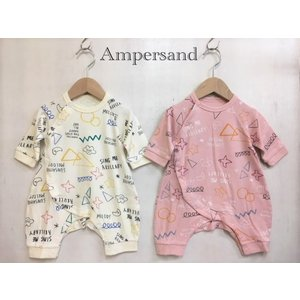AMPERSAND / アンパサンド ベビー服 お絵かき総柄カバーオール 女の子 男の子|kooka