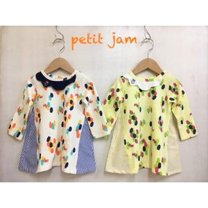 Petit jam / プチジャム 子供服  4色2柄カットソーワンピース 女の子|kooka