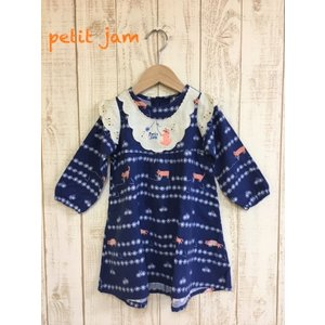 Petit jam / プチジャム 子供服  毛糸とネコのワンピース  女の子 |kooka