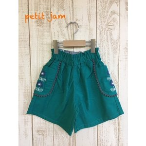 【SALE】Petit jam / プチジャム 子供服 ポケットお花刺繍パンツ 女の子 |kooka