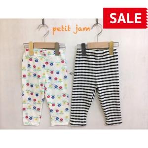 Petit jam / プチジャム 子供服 キッズスパッツ ボーダーと柄のスパッツ 女の子|kooka
