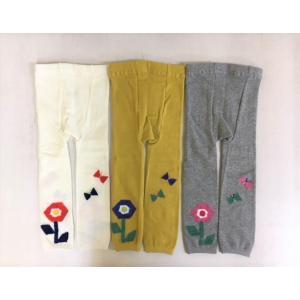 【SALE】Petit jam / プチジャム 子供服  お花モチーフ丸編みスパッツ10分丈 女の子|kooka|02