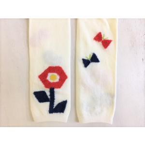 【SALE】Petit jam / プチジャム 子供服  お花モチーフ丸編みスパッツ10分丈 女の子|kooka|03