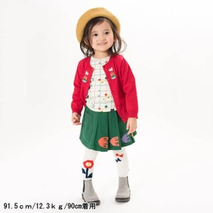 【SALE】Petit jam / プチジャム 子供服  お花モチーフ丸編みスパッツ10分丈 女の子|kooka|05