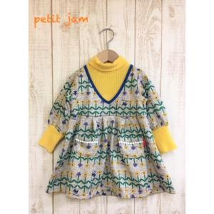 【SALE】Petit jam / プチジャム 子供服  裏起毛デザインワンピース 100cm 女の子 |kooka