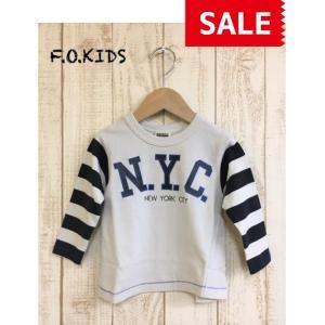 F.O.KIDS / エフオーキッズ 子供服 キッズTシャツ 袖ボーダーカノコTシャツ 男の子&女の子|kooka