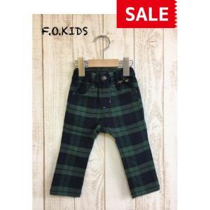 F.O.KIDS / エフオーキッズ 子供服 先染めチェックパンツ 10分丈 男の子 女の子|kooka
