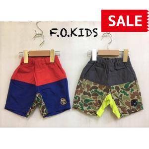 【SALE】【50%OFF】F.O.KIDS / エフオーキッズ 子供服 バイカラーパンツ 5分丈 男の子 SS|kooka