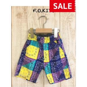 【SALE】【30%OFF】F.O.KIDS / エフオーキッズ 子供服 ペイズリー総柄ハーフパンツ 男の子|kooka