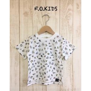 F.O.KIDS / エフオーキッズ 子供服 キッズTシャツ スポーツ総柄Tシャツ 男の子&女の子|kooka