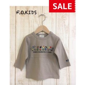 【SALE】【20%OFF】F.O.KIDS / エフオーキッズ 子供服 PEANUTSコラボ刺繍Tシャツ 男の子 女の子 FW|kooka