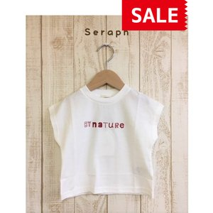 Seraph / セラフ 子供服  ロゴプリントTシャツ  女の子|kooka