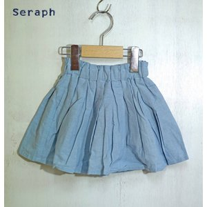 【SALE】Seraph / セラフ 子供服 インパンツ付きタックスカート  女の子  2018SS|kooka