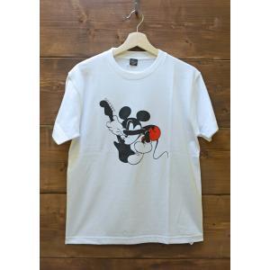 Soulsmania / ソウルズマニア メンズ 半袖Tシャツ OLD MICKEY  ミッキーマウスプリントTシャツ |kooka