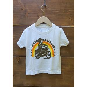 SoulsmaniaKids / ソウルズマニアキッズ 子供服 キッズTシャツ  BIKERSMANIA  半袖Tシャツ  男の子&女の子|kooka