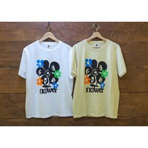 Soulsmania / ソウルズマニア メンズ 半袖Tシャツ FLOWER MUSIC  プリントTシャツ |kooka