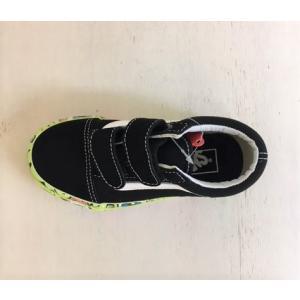 VANS/バンズ 子供靴 キッズスニーカー OLD SCHOOL V BRAIN  WALL  BLACK/TRUE WHITE 男の子&女の子 kooka 05