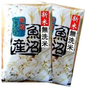 魚沼産コシヒカリ10kg(5Kg×2袋) 無洗米 29年産 ...
