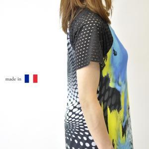 フランス製レディース ミセスファッション チュニック 40代...