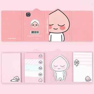 大人気の韓国のキャラクター「カカオフレンズ」の付箋(ポストイット)セットです。 9種類の「アピーチ」...