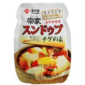 ★韓国食材*韓国調味料★【純豆腐鍋】宗家 アサリ豆腐チゲ用ヤンニョム(スンドゥブチゲ)のもと 150g