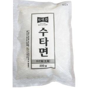 【クール便選択必要!】 *韓国食材/韓国麺類★珍味堂 冷凍手打麺(生麺) 200g☆ koreasuper