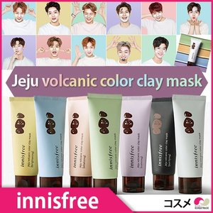 innisfree Jeju volcanic color clay mask 済州の火山岩カラークレイマスク7種 コスメ 化粧品 美容|koreatrade