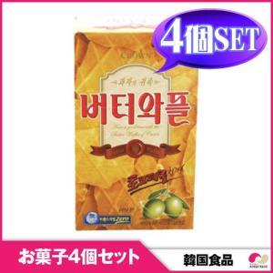 【韓国お菓子 4個セット】バター味のサクサク バターワップル 4個セット|koreatrade