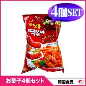 【韓国お菓子4個セット】【ヘテ】シンダンドン トッポキ (75g)4個セット snack / hot|koreatrade