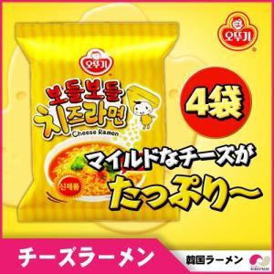 【韓国ラーメン 】オトギ しなやかチーズラーメン4袋  ◆OTOGI 輸入食品 乾麺 インスタントラーメン 辛くない
