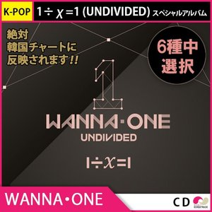 送料無料 2次予約 WANNAONE Special Album 1÷χ=1 (UNDIVIDED) 6種バージョンランダム 発売6月4日予定 6月17日発送予定|koreatrade