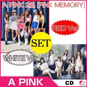【1次予約】A-PINK 正規 2集 『Pink Memory』★White Ver + Red Ver◆メンバー別12種+グループ2種/バージョン別にフォトカード(07.21発売)|koreatrade